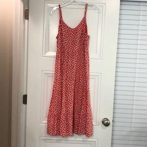 Old Navy Daisy Print Midi Dress